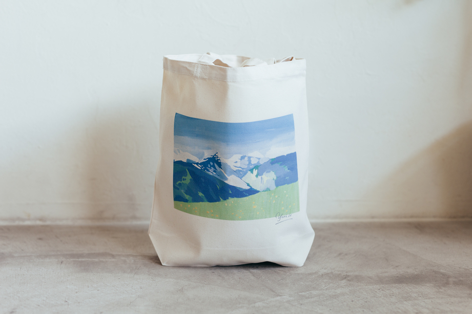 黒坂麻衣トートバッグ「みどりの風景」