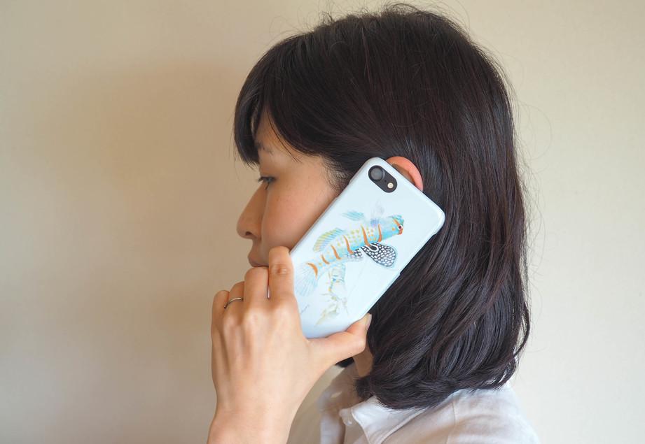 【販売終了】長嶋祐成iPhone7ケース「共生ハゼ」