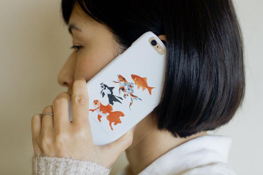 【販売終了】長嶋祐成iPhoneケース「金魚」