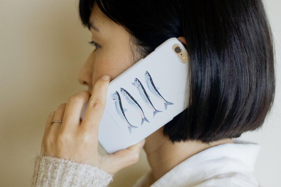 【販売終了】長嶋祐成iPhoneケース「カタクチイワシ」
